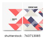 business brochure cover layout  ... | Shutterstock .eps vector #763713085