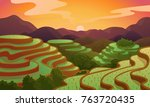 Chinese Rice Field Terraces In...