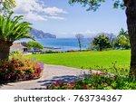 beautyful park in funchal  ... | Shutterstock . vector #763734367