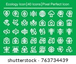 ecology line icon editable... | Shutterstock .eps vector #763734439