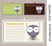 set of tags ith funny cartoon... | Shutterstock .eps vector #763744939