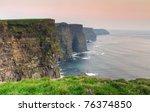 Cliffs Of Moher At Dusk   Iris...