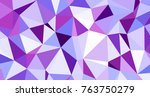 abstract triangular low poly... | Shutterstock . vector #763750279