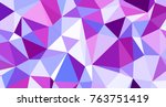 abstract triangular low poly... | Shutterstock . vector #763751419