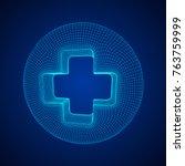first aid medical cross...   Shutterstock .eps vector #763759999