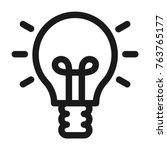 light bulb icon. line style | Shutterstock .eps vector #763765177