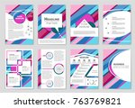 abstract vector layout... | Shutterstock .eps vector #763769821