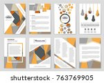 abstract vector layout... | Shutterstock .eps vector #763769905