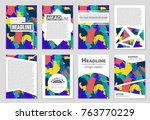 abstract vector layout... | Shutterstock .eps vector #763770229