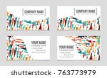 abstract vector layout... | Shutterstock .eps vector #763773979