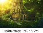 Fantasy Tree House In Deep...