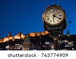 big clock at old city in... | Shutterstock . vector #763774909