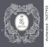 dark color book cover   vintage ... | Shutterstock .eps vector #76377910