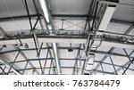 metal roof structures with a... | Shutterstock . vector #763784479