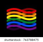 lgbtq   flag ribbon isolated.... | Shutterstock .eps vector #763788475