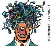 panic people wire adapter... | Shutterstock .eps vector #763788745