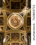 Small photo of Ceiling Paintings in the Chiesa del Gesu (Church of Jesus) in Genoa (Genova), Italy - 19th May 2016