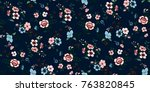 seamless floral pattern in... | Shutterstock .eps vector #763820845