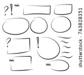 set hand drawn text box and... | Shutterstock .eps vector #763828351