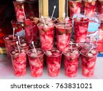 pickled water made with cabbage ... | Shutterstock . vector #763831021