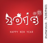 best wishes   simple red and... | Shutterstock .eps vector #763839601