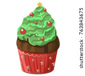 new year and christmas festive... | Shutterstock .eps vector #763843675