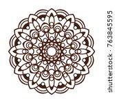 vector coaster design. laser... | Shutterstock .eps vector #763845595