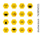 set of robot face emoticons....