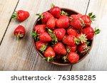 Fresh Strawberry In A Clay...