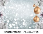 christmas background with...   Shutterstock . vector #763860745
