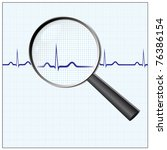 heart checkup  magnifying glass ... | Shutterstock . vector #76386154