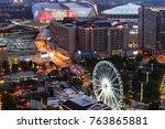 atlanta  georgia   united... | Shutterstock . vector #763865881