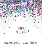 merry christmas  greeting... | Shutterstock .eps vector #763873651