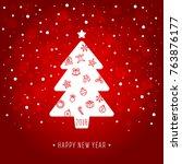 new year card vector... | Shutterstock .eps vector #763876177