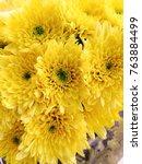 marigold flowers left in the... | Shutterstock . vector #763884499