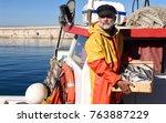 fisherman with a fish box...