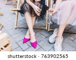 portrait from about of girl in...   Shutterstock . vector #763902565