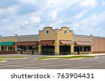 new commercial building with... | Shutterstock . vector #763904431