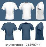 vector illustration. men's t... | Shutterstock .eps vector #76390744