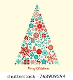 christmas background great... | Shutterstock .eps vector #763909294