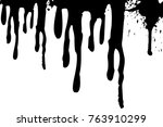 vector dripping paint.paint... | Shutterstock .eps vector #763910299