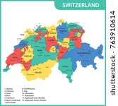 the detailed map of the... | Shutterstock .eps vector #763910614