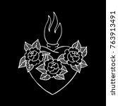 Sacred Heart Traditional Tatto...