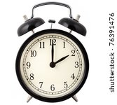 Old Alarm Clock Isolated On...