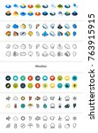 set of icons in different style ... | Shutterstock .eps vector #763915915