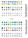 set of icons in different style ... | Shutterstock .eps vector #763920037