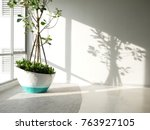 green eco building concept.... | Shutterstock . vector #763927105