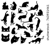 pretty cat illustration  i made ... | Shutterstock .eps vector #763931461