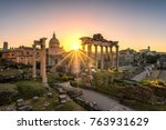 ruins of roman's forum at... | Shutterstock . vector #763931629