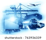 global business of container... | Shutterstock . vector #763936339